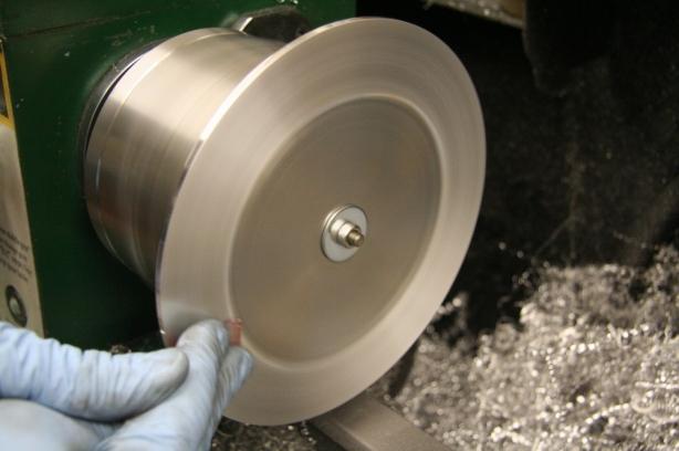 Brushing aluminum base