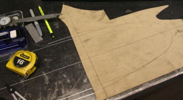 Rear hoop template
